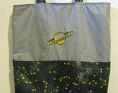 RESERVED for lunarmirror- Constellation Tote or Purse Eco Friendly Bag