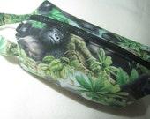 RESERVED for Michelle- Realistic Gorilla Ape Primate Monkey Pencil Bag Craft Bag Cosmetic Bag Makeup Bag Shaving Kit LARGE