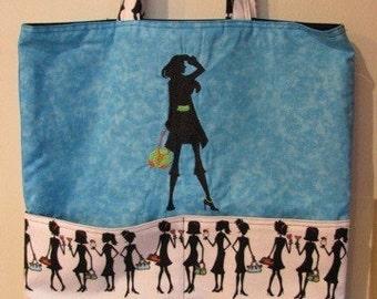 Fashion Diva Eco Friendly Tote Bag or Trick or Treat Bag