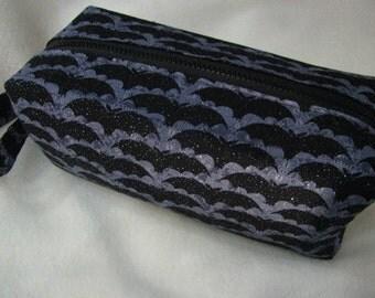 Glittering Bat Flying Fox Cosmetic Bag Makeup Bag LARGE