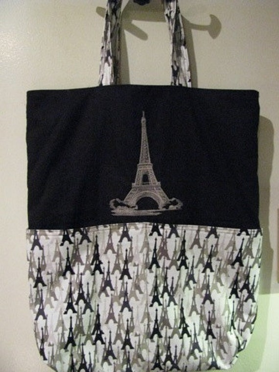 Eiffel Tower Paris France Tote or Eco Friendly Purse