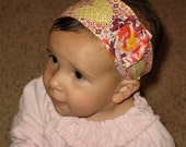 Fabric Flower Headband, fits Babies to Adults