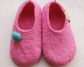 Felted wool slippers shoes in woman's size