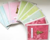 SALE--20 PERCENT OFF select cards--Christmas Cards--Trees and Sleighs-- Set of 10