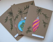 SALE--20 PERCENT OFF select cards--Christmas Cards: Ornament Variety--Set of 3