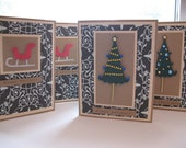 SALE--20 PERCENT OFF select cards--Christmas Cards-- Set of 4