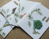 SALE--20 PERCENT OFF select cards--Ornament Variety Cards-- Set of 4