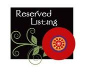 Reserved Listing for nikki120