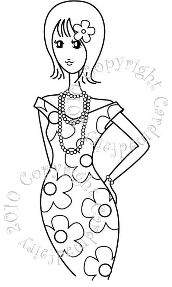 All Dressed Up - digi stamp