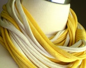 INFINITY SCARF in  Yellow and Natural