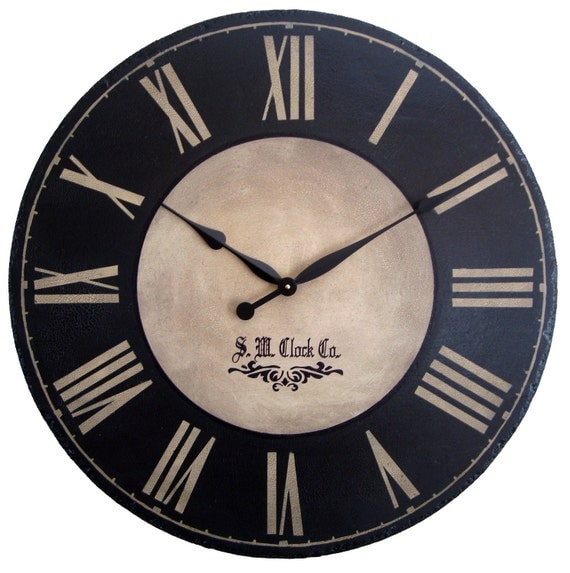 Large Wall Clock 24 Inch Port Royal Antique Style By Klocktime