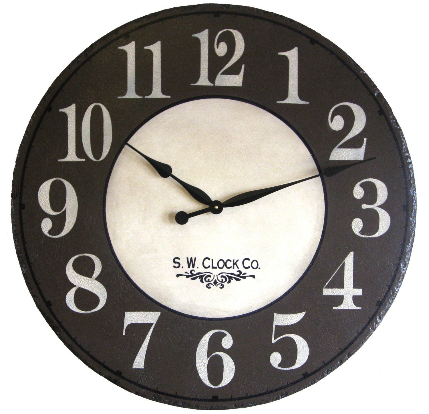 24 Inch Wellington Ii Large Wall Clock Brown Big By Klocktime