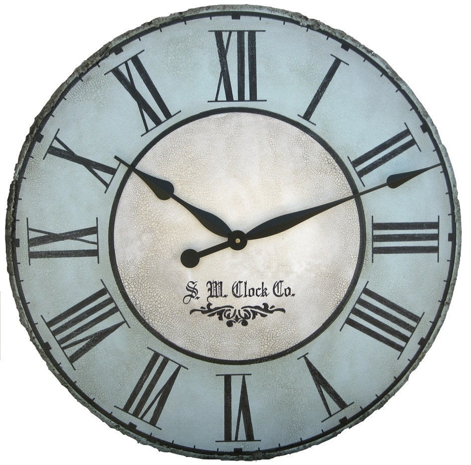 30 In North Haven Large Wall Clock Antique Style Big By