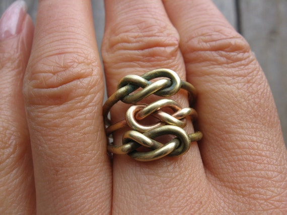 Infinity Knot Rings Tibetan Bronze Four Rings  888888888888888888888888888888888888