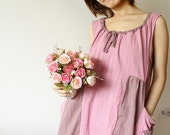 Be Lovely with Two Tone Pink Cotton Dress