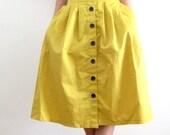 60's Style Short Full Skirt in Yellow