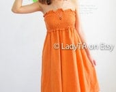 Be Tropical Girl in Lovely Orange Dress