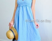 Be Tropical Girl in Lovely Pastel Blue Dress