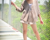 Brown Cotton Summer Blouse
