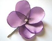 lilac dream rose blossom wedding flower bobby pins (set of 2)