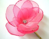 Cerise Cherry blossom pink spring rose wedding flower hair pin