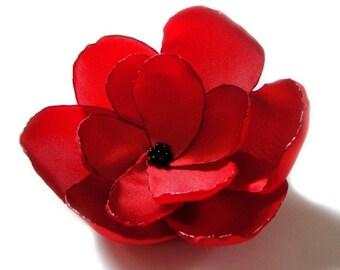 valentines day red rose love flower brooch
