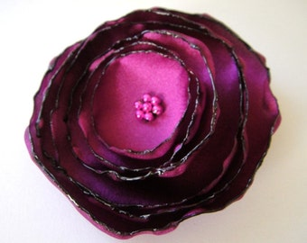 fandango purple dream rose flower brooch