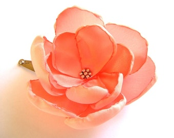 apricot rose blossom wedding flower snap clip