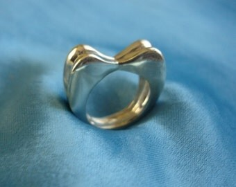 the love of two swans ring for wedding gifts-925 sterling silver jewellery(OOAK)