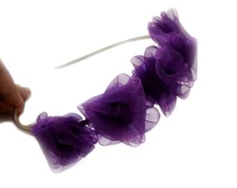 Amethyst love rose garden tiara for weddings
