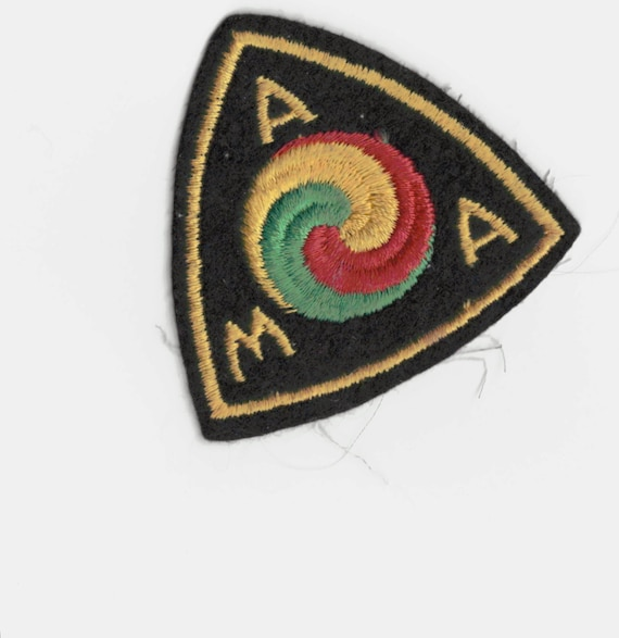 1940's A M A Motorcycle Patch. 3 inch. Vintage Embroidered Wool Original. Biker