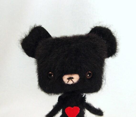 Miniature Anime Artist Teddy Bear - Smokes