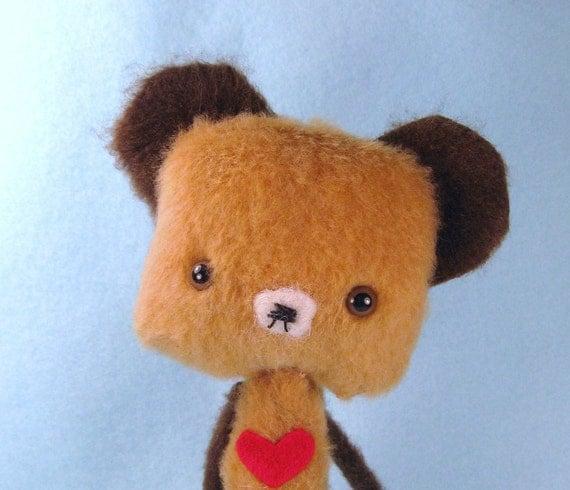 Miniature Anime Artist Teddy Bear - Peanut Butter