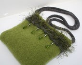Green Jewel Felted Purse - Virtuosity