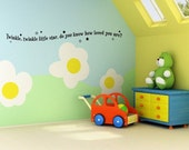 1313  -  vinyl Lettering - Twinkle twinkle little star, do you know how loved you are