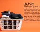 Laundry Definition  -  Vinyl Lettering Wall Decal, sticker ,cling, Art  - 1421