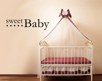 Vinyl Lettering Decal - Sweet Baby- 1332