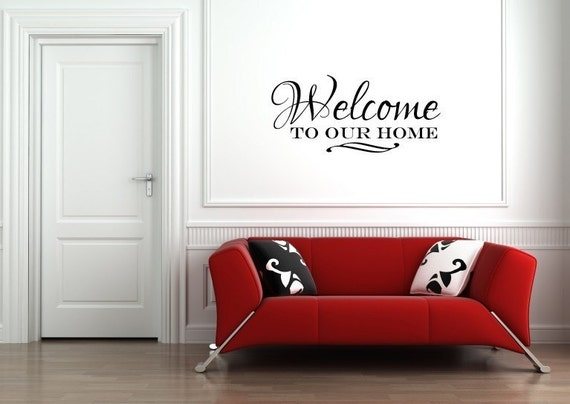 Vinyl Lettering Wall Decal- Welcome to our home - 1504