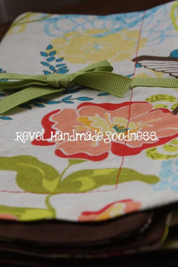 super duper reversible napkins - springtime birds and flowers