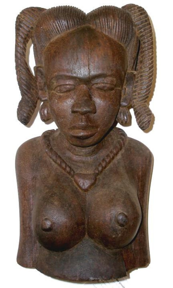 Reserved for john vintage african sculpture of a woman s