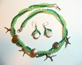 Under the Sea Crystal and Sterling Necklace and Earrings Set on Etsy
