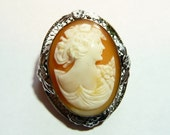 Vintage Carved Shell Cameo on Etsy