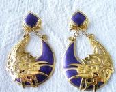 Huge Outragous Vintage Berebi Earrings on Etsy