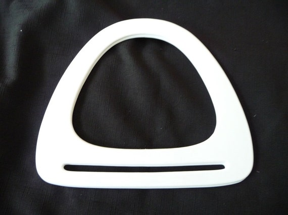 Vintage White Lucite or Plastic Purse Handles on Etsy