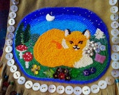 Fox At Dawn Beaded Bag