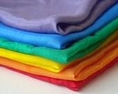 """Mini Playsilks - 11"""" Rainbow - Set of 6"""