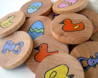 Wooden Memory Game - Easter