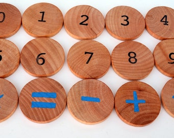 Montessori Math Game - Montessori Education Natural Wood Toy