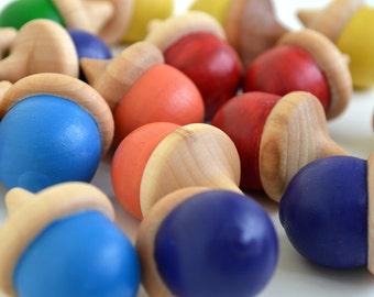 Wooden Acorns Montessori Waldorf Toy