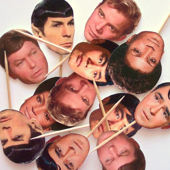 Star Trek Cupcake Toppers - Set of 12 Picks
